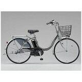 ブリヂストン 26型 電動アシスト自転車 アシスタベーシック M.XHスパークルシルバー/内装3段変速 A6B16