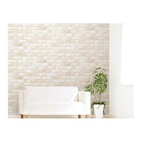 のり残りなしアクセント壁紙 幅 高さ  レンガ wap-501 w・ホワイト