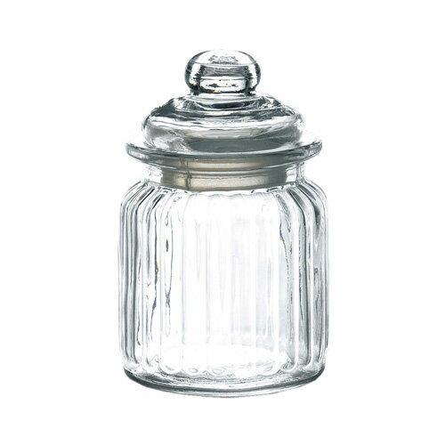 ガラスキャニスター ガラス瓶 ストライプの写真