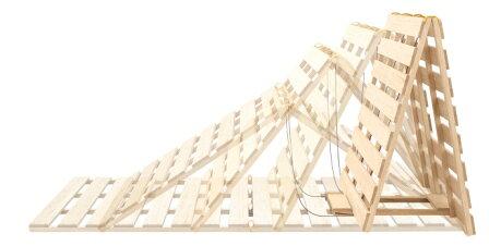 団干し機能付きすのこベッド (ダブルサイズ用)の写真