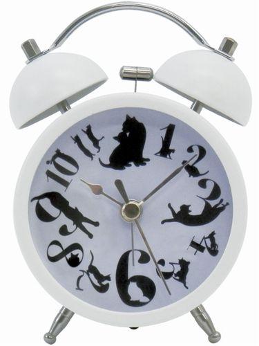 目覚まし時計 (alarm clock) ネコ (CAT) white