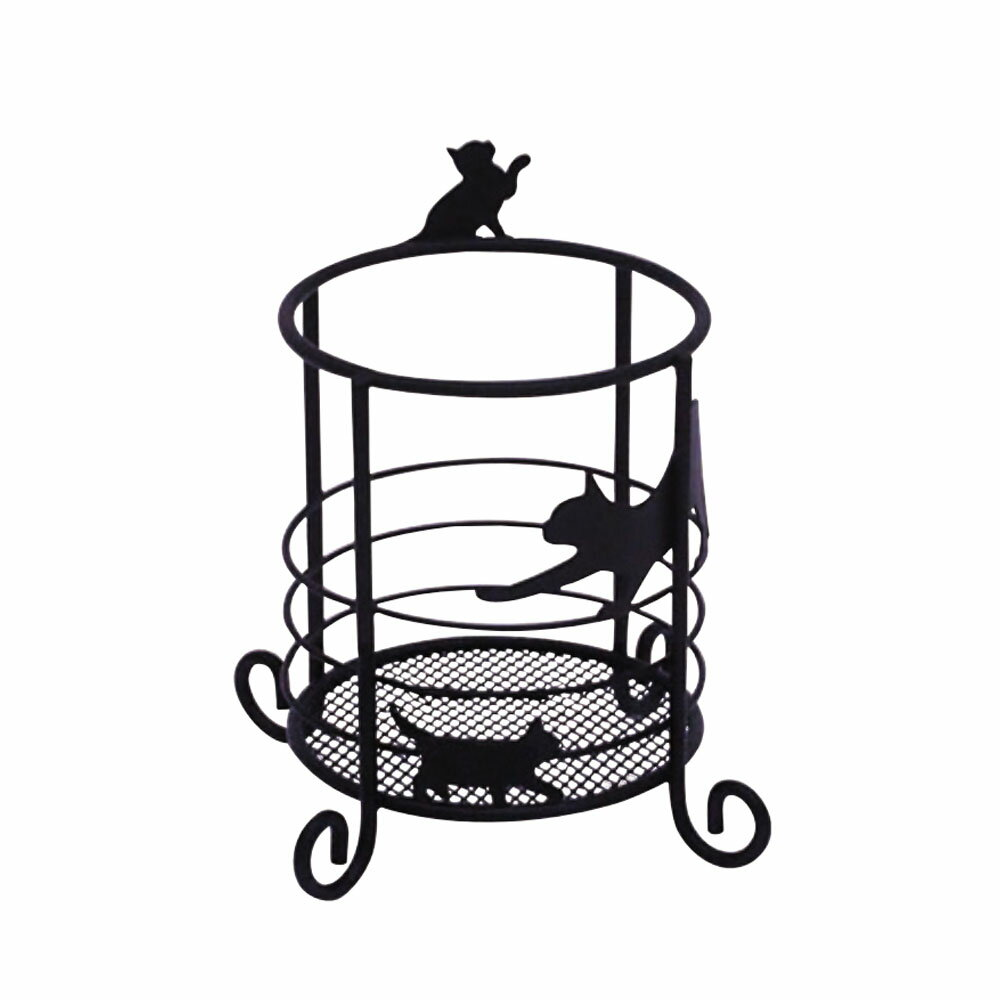 ネコ雑貨マルチスタンドs ネコ 黒猫アイアンシリーズ
