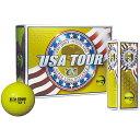 USA TOUR YL USA ツアーディスタンス +α ゴルフボール 1ダース 12球入り イエロー USA TOUR DISTANCE +α 12P YELLOW USATOURYL