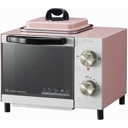 コイズミ オーブントースター ピンク KOS-0703/P(1台)の写真
