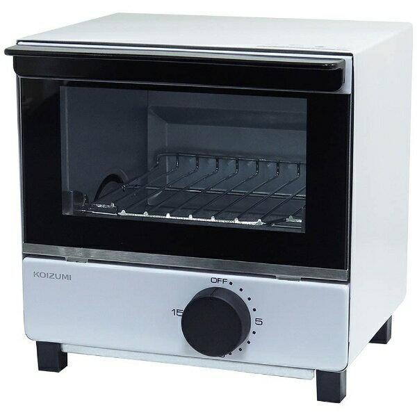 コイズミ オーブントースター 550W KOS-07BK-W ホワイトの写真