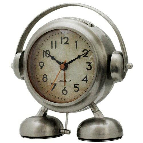 ビッグサウンド フットベル目覚まし時計アミーゴ(シルバー)