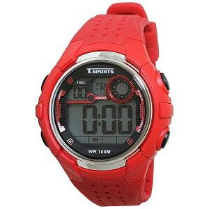 4983666146229(クレファー ティー・スポーツ T-SPORTS デジタル腕時計 TS-D038-RD レッド)画像