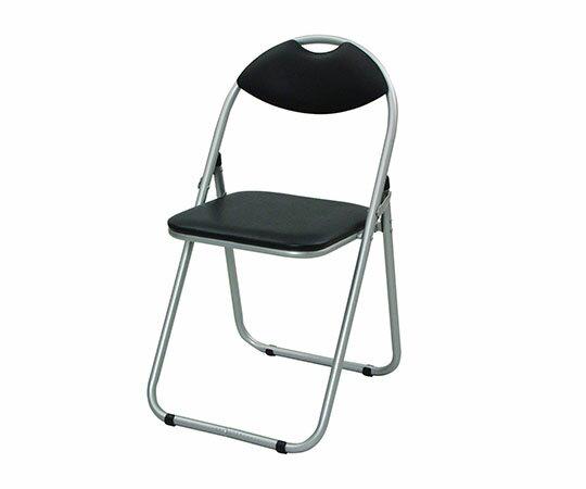 YZX-08-SB 山善 ミーティングチェア シルバー/ブラック パイプ椅子 YZX08SB