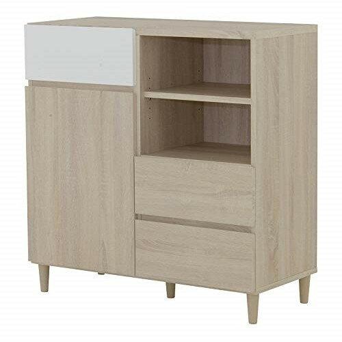 helmヘルム キャビネット hm90-90c iv br幅 /高さ  iv/br オークナチュラル ブラウン6092156 ウォールナットの写真