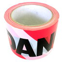 アイガーツール EIGER デンジャーテープ 赤/白 0.5mm 80x100m