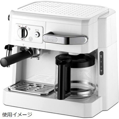 デロンギ コンビ・コーヒーメーカー ホワイト BCO410J-W(1台)の写真