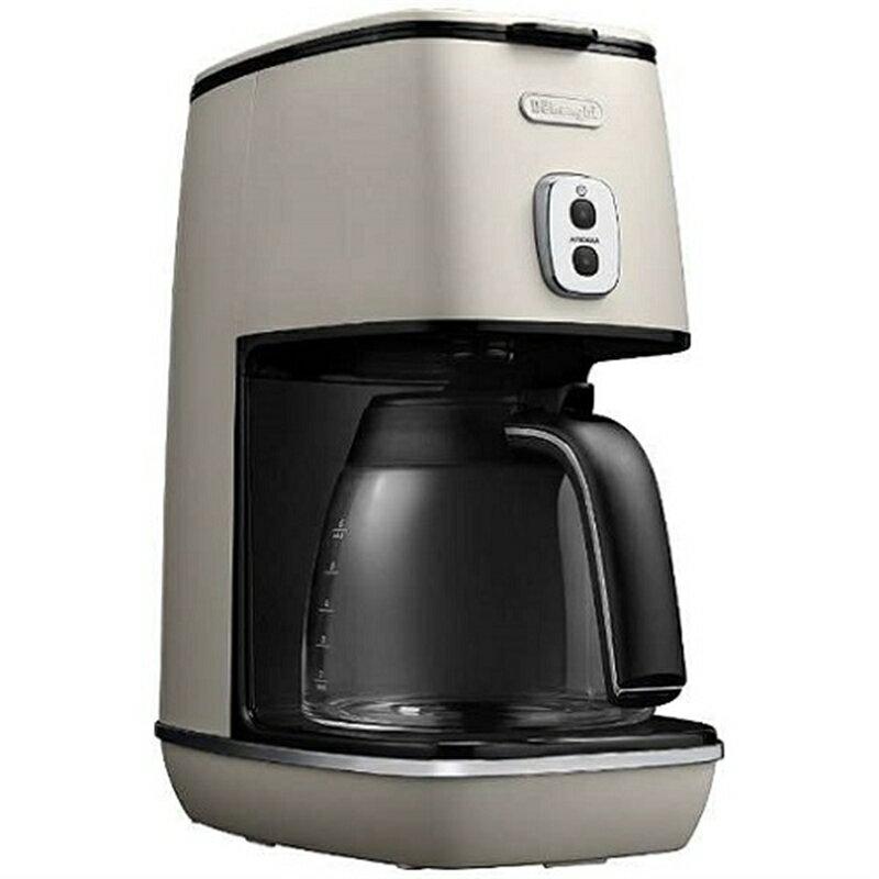 デロンギ ディスティンタコレクション ドリップコーヒーメーカー ピュアホワイト ICMI011J-W(1台)の写真