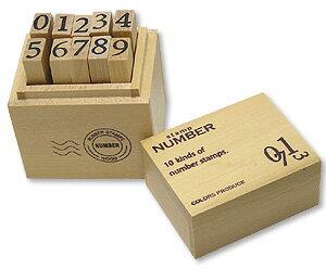 丸和貿易 ウッドボックススタンプ ナンバー M 品番:100325102