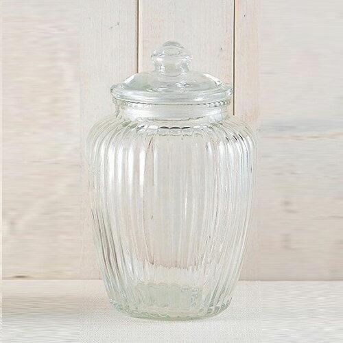 丸和貿易 ガラス製保存容器  グラスジャー スポーク L 400281003