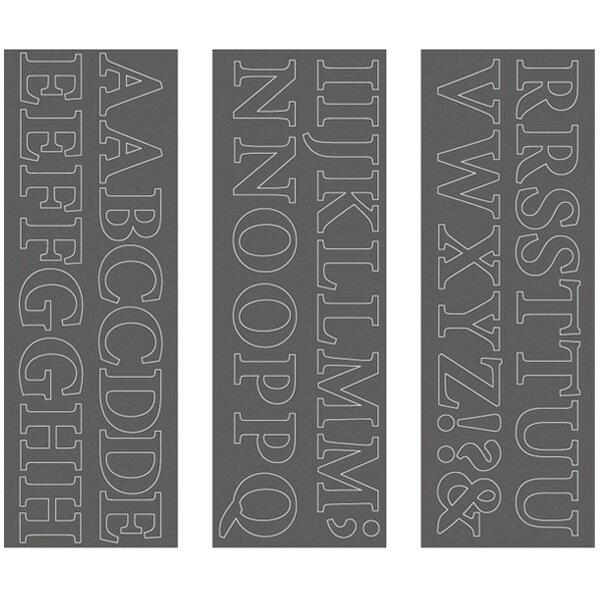 ウォールステッカー squ+ ミニオンプロ 大文字 スキュウグレー WS-02SQGY(1セット)の写真