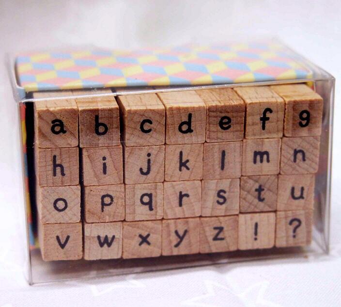 こどものかお プチ文字スタンプ J  アルファベット 小文字 1228-005