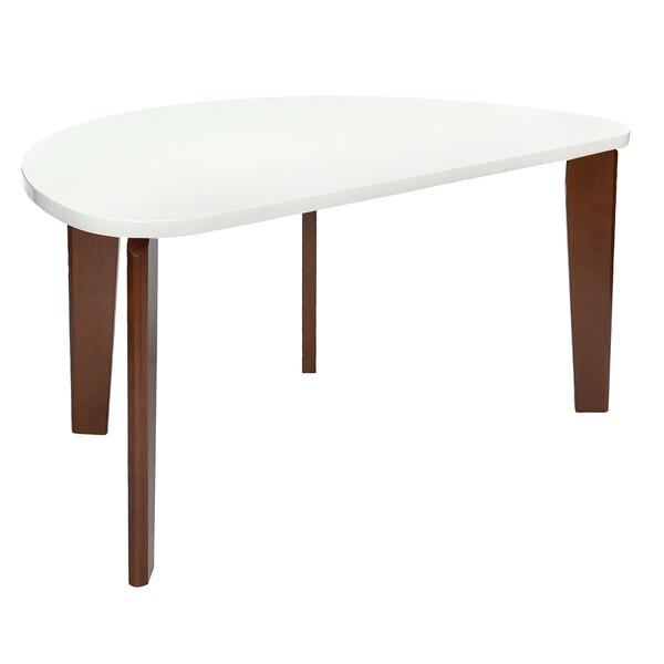 モダン ダイニングテーブル 4人掛け ホワイト 木製脚 フェリス リビング 居間