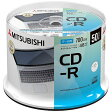 三菱化学メディアデータ用CD-R 700MB 50枚 SR80FP50SD1-B SR80FP50SD1B