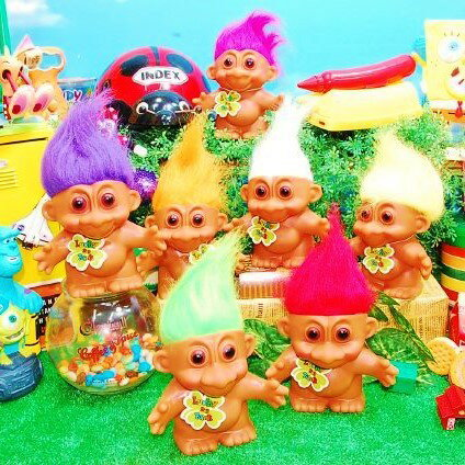 ラッキードールバンクトロール 人形 貯金箱 かわいいの写真