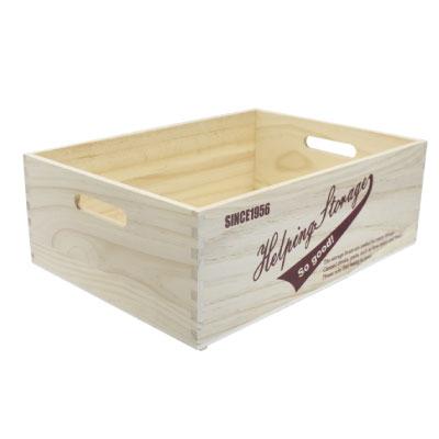 ストレージボックス L 取っ手付木箱の写真