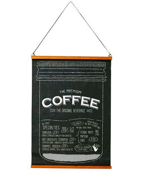 インターフォルム タペストリー Original Beverage ブラック カフェ仕様  ブラック  GD-1257 GD-1257BK