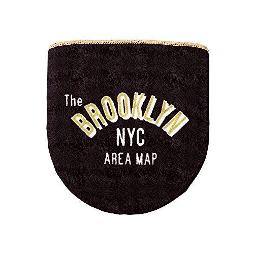 """インターフォルム フタカバー 洗浄便座用 Brooklyn Area Map ブラック """"マイアトラス""""シリーズ - MY ATLAS - FL-1543BK"""