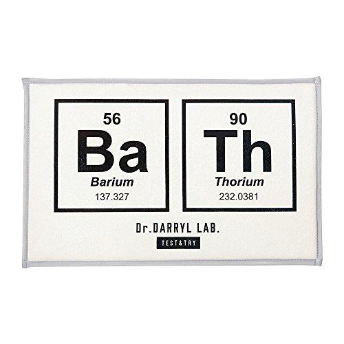 バスマット dr.darryl lab. - ドクターダリル ラボ - ホワイト 幅 奥行  fl-1805 インターフォルム interform fl-1805