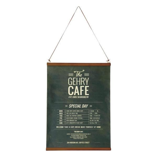 INTERFORM インターフォルム ≪The Coffee Street ≫タペストリー GD-1851 ブラック