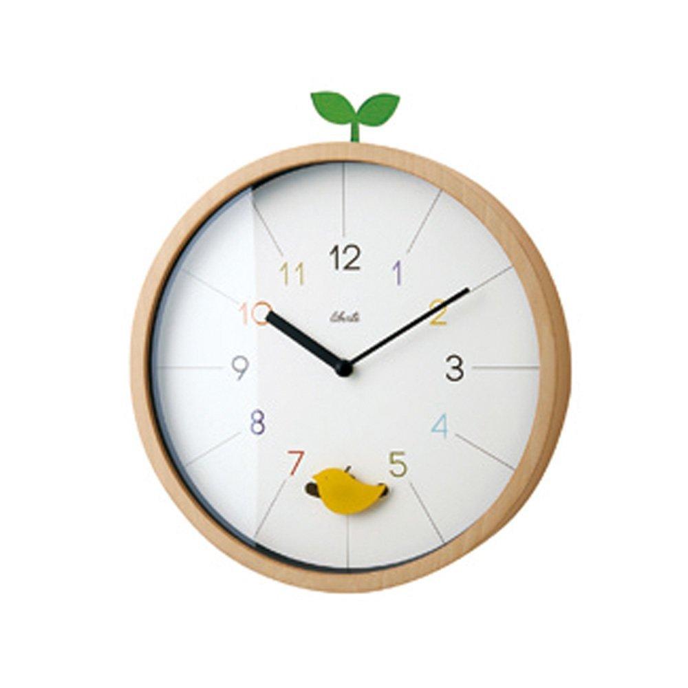振り子時計 壁掛け時計 ウォールクロック スイープムーブメント インテリア ナチュラルの写真
