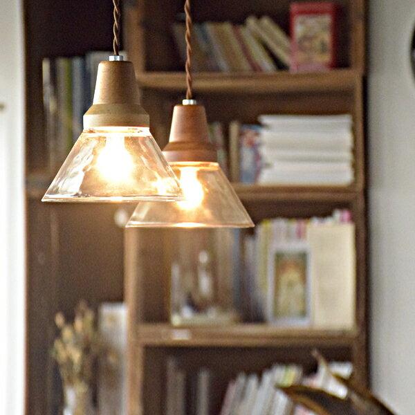 Berka ベルカ  1灯ペンダントライト LT-9534 LT-9534 CL BN クリア ブラウンの写真