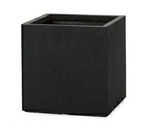 植木鉢 大型 ファイバークレイプロ ベータ キューブプランター 45 ブラックの写真