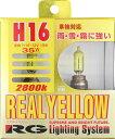 RG レーシングギア リアルイエロー 2800K H16 12V19W 明るさ35W相当 (G16R)