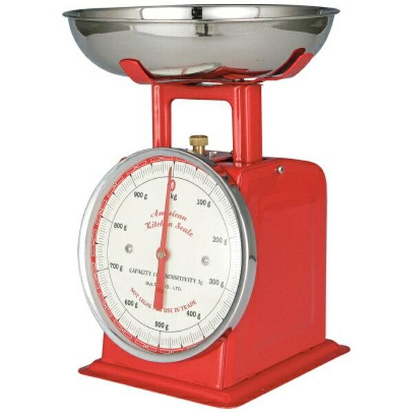 dulton ダルトン アメリカンキッチンスケール100-061 1kg レッド BSK8502の写真