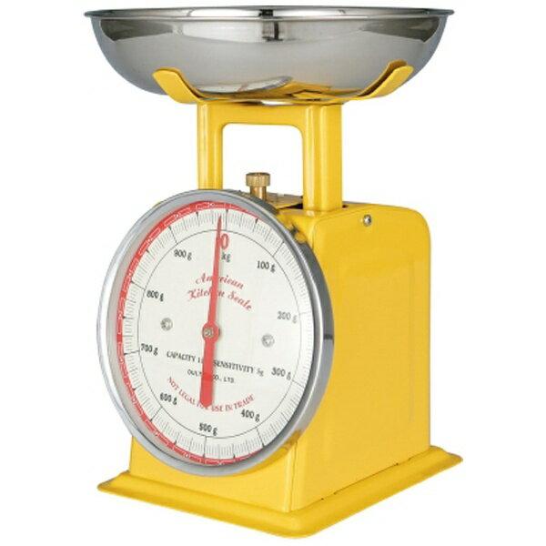 dulton ダルトン アメリカンキッチンスケール100-061 1kg イエロー BSK8503の写真