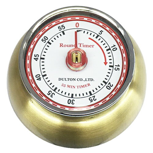 DULTON ダルトン キッチンタイマー ウィズ マグネット KITCHEN TIMER W/MAGNET ANTIQUE BRASS 100-189ABS