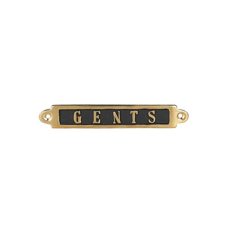 (ダルトン)Brass sign 真鍮製 サインプレート GENTS GS559-326GE