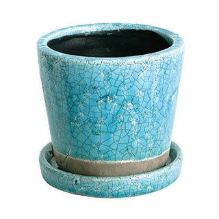 (DULTON)ダルトン Color grazed pot S テラコッタ 陶器鉢 CH15-G527 Turquoiseの写真