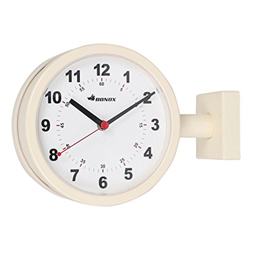 DULTON DOUBLE FACE CLOCK 170D IVORY S624-659IV