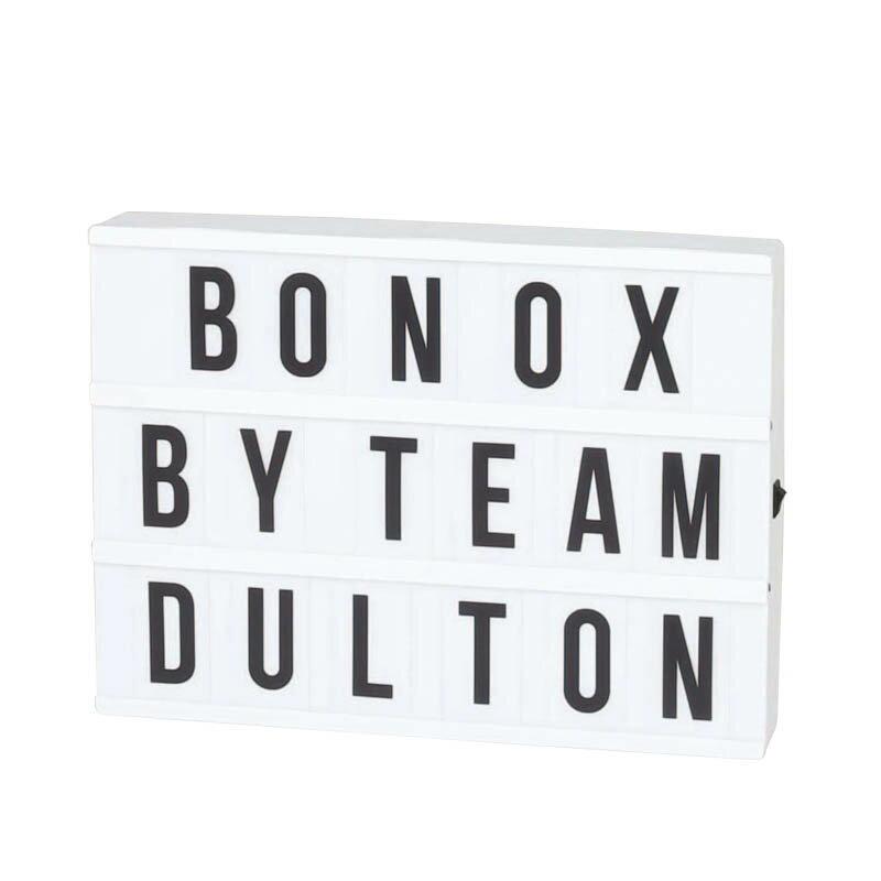 DULTON ダルトン 看板 LED Light box レターサインボード ライトボックス 3段 Lサイズ レター&ナンバープレート