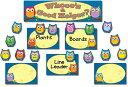Colorful Owls Job Assignment Mini Bulletin Board Set /CARSON DELLOSA PUB CO/Carson-Dellosa Publishing