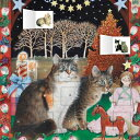 Ivory Cats - An American Christmas Advent Calendar (with Stickers) /FLAME TREE PUB/Flame Tree Studios画像