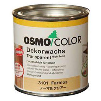 オスモ&エーデル オスモカラー ウッドワックス(ノーマルクリアー) 透明 0.375L (3101)
