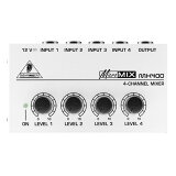 MX400-MICROMIX  ベリンガー ウルトラローノイズ 4 チャンネルラインミキサー BEHRINGER MX400 [MX400MICROMIX]