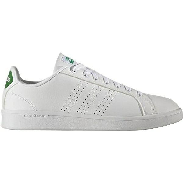 [アディダス] スニーカー CLOUDFOAM VALCLEAN ランニングホワイト/ランニングホワイト/グリーン 26.5cm