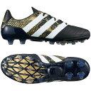 adidas サッカー スパイク エース 16.2-ジャパン HG LE メンズ コアブラック/ランニングホワイト/ゴールドメット ICC95 S76559画像