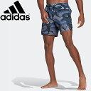 adidas アディダス ショート丈 グラフィック スイムショーツ / Short-Length Graphic Swim Shorts XS GM2255