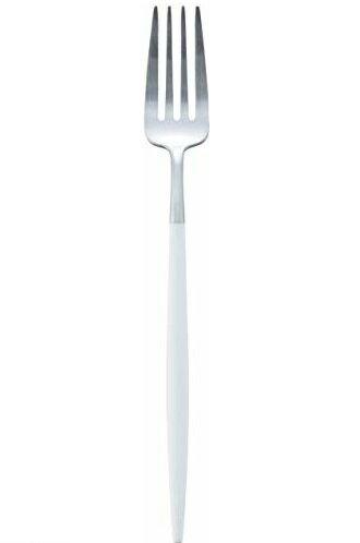 クチポール ゴア goa ホワイト/シルバー テーブルフォーク   マット仕上げ cutipol カトラリー 北欧 食器 おしゃれ ブランドの写真