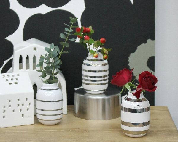 KAHLER ケーラー オマジオ フラワーベース ミニ H80 シルバー 花瓶の写真
