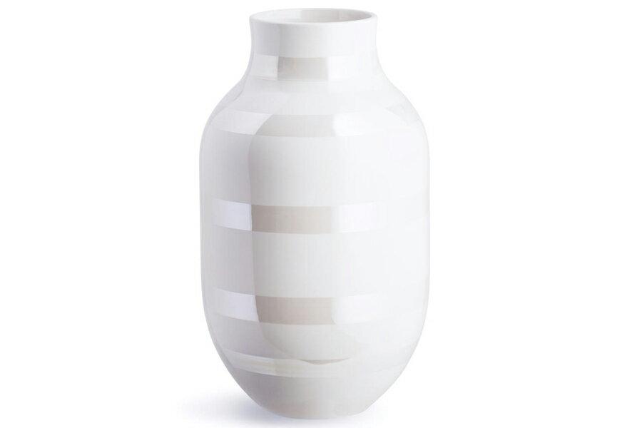 KAHLER ケーラー オマジオ フラワーベース Lサイズ パール 白い花瓶 Omaggio Pearl vase L16050
