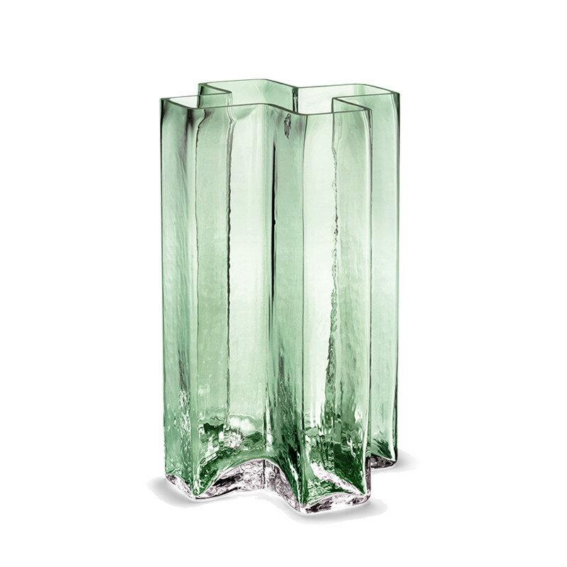 HOLMEGAARD クロスベース グリーン H19.5cm 花瓶 ホルムガード CROSSES 北欧 デンマーク